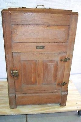 Antique Ice Box Oak Mascot By Ranney