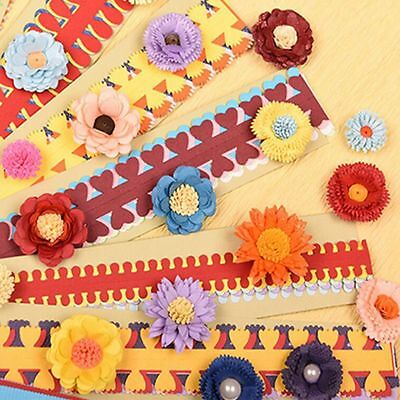 Scrapbooking Clipbook DIY Flower Kit Mould Quilling Rolling Paper Crafts