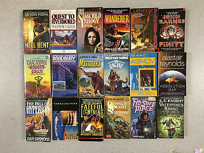 18 SCIENCE FICTION Paperbacks Instant Collection FREE SHIPPING