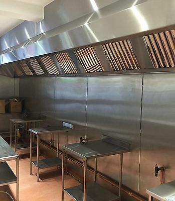 Commercial Kitchen Extractor Canopy Hood With Gas Interlock Fitted 07850203900