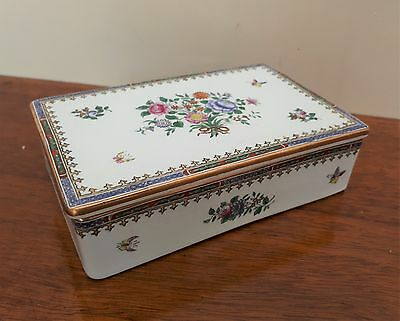 Copeland Spode Cigarette Box Lowestoft Flowers C1703 - c1900 VGC T.Goode & Co