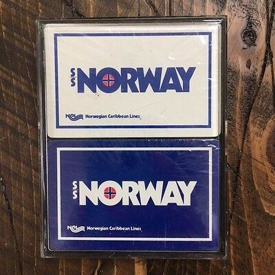 VTG Sealed Norway NCL Double Deck Playing Cards Norwegian Cruise Line NEW