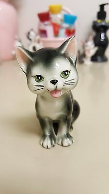 Kittens by Karen Lucky Cat Figurine Black and White Vintage 1960s Japan