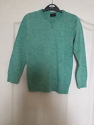 Boys Green V Neck Jumper From Next Size 7 Years
