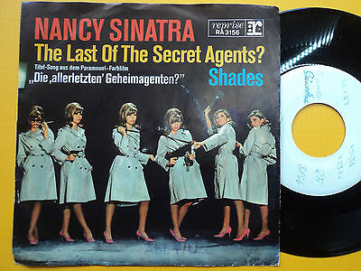 "7"" PROMO Nancy Sinatra The Last of the Secret Agents? TOP RARE  Vinyl = Mint!"
