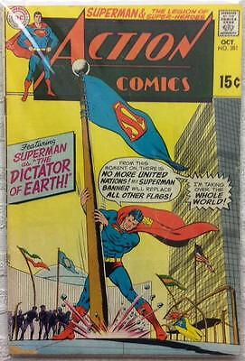 Action comics #381 (1st series ) 1969 VG/FN condition. 47 year old classic.