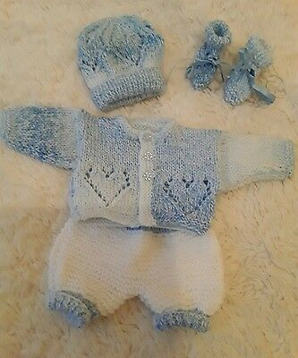 """hand knitted dolls clothes to fit 12""""doll"""