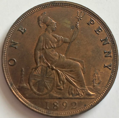 1892 Penny Uncirculated grade lustrious