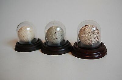 antique golf ball display domes (batch of 10 sold as one lot)