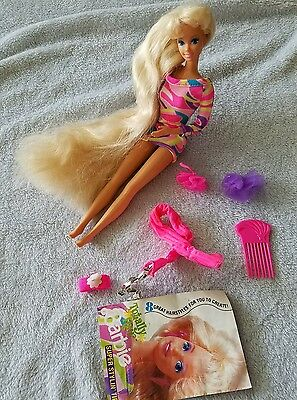 Totally Hair Barbie Doll Blonde Vintage 1991 original dress & Accessories