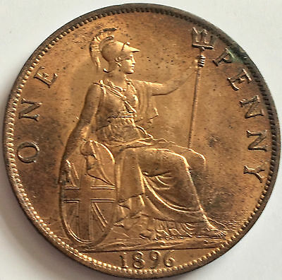 1896 Penny Uncirculated with near full Lustre
