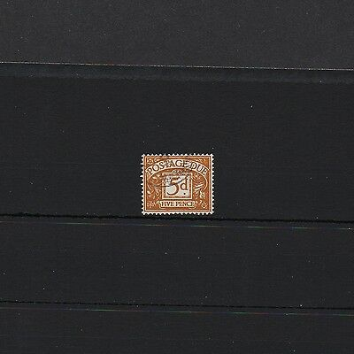 GB 1955-57 5d brown Postage Due, Fine-Used. Cat val £20, Selling for £3.95 only