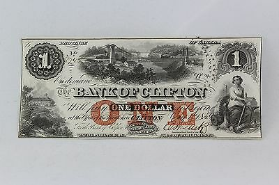 1859 $1 The Bank of Clifton (with Bridge), Province of Canada AU/UNC