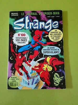 Strange N°100 Du 5 avril 1978 Edition Lug Bon État Marvel FANTASK Iron Man
