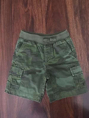 Baby Gap Toddler Boy GREEN CAMOUFLAGE Cargo Shorts size 3T