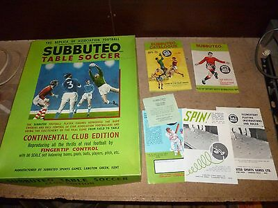 1970s Subbuteo including Instructions and 2 Original Catalogues VGC