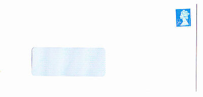 100 2nd class completely unfranked stamps on new white DL envelopes with windows