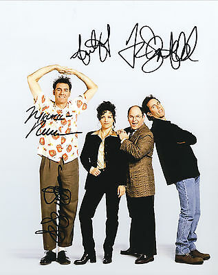 Seinfeld TV Series Hand Signed By All Cast Of 4  10x8 !