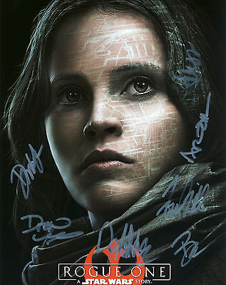 Star Wars - Rogue One Film Hand Signed Cast Of 7 10x8 !