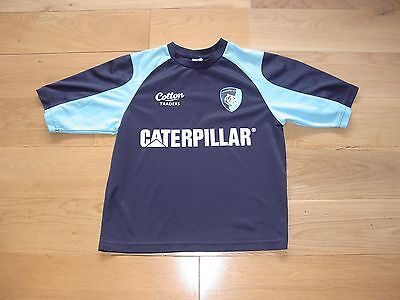 Cotton Trader Leicester Tigers Rugby Union Training Shirt/Warmup top/child/youth