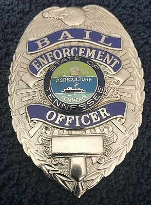 Badge Bail Enforcement Officer State Of Tennessee   XVI Agriculture Commerce