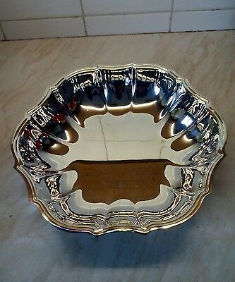 Oneida Chippendale Round Bowl  Silver Plate