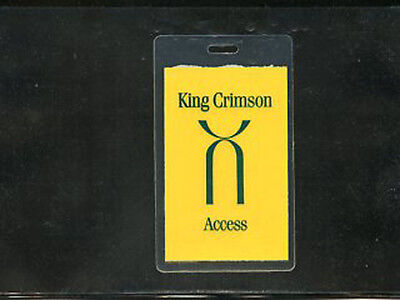 King Crimson 1995 U.S. Tour - laminate all access pass