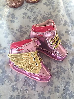 Baby Girls High Top Pram Shoes 3-12 Months