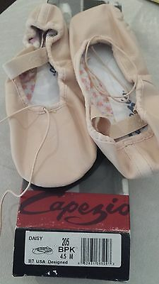 Capezio Big Girl's Full Sole Ballet Pink Leather Ballet Slippers - size 4.5