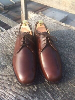 New Men's English Crafted Sanders Brown Derby Shoes. UK 7.5 RRP Circa £300