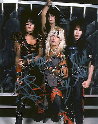 """MOTLEY CRUE Hand Signed By Band """"Shout Tour"""" 10x8 Sale !"""