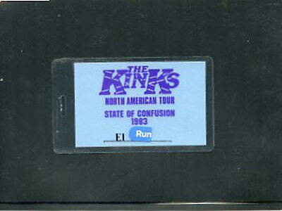 The Kinks  1983 Backstage laminate pass State of Confusion all access