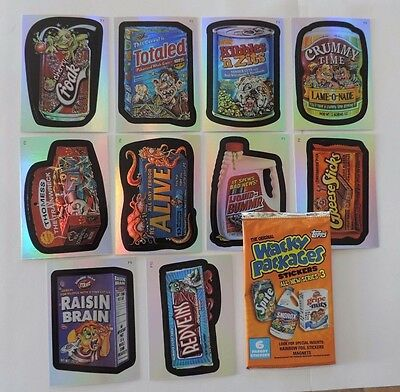Topps 2006 Wacky Packages Series 3 Foil Sticker Set