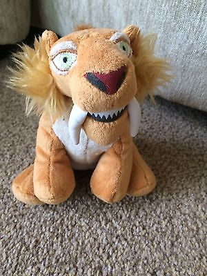 """Ice Age  4. 6"""" Tall Sitting Drago Sabre Tooth Cat Ty Beanie Character Soft Toy"""