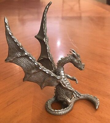 "Rawcliffe Pewter Dragon 1992 RF1733 Almost 5"" Tall Figure Figurine Detailed VTG"