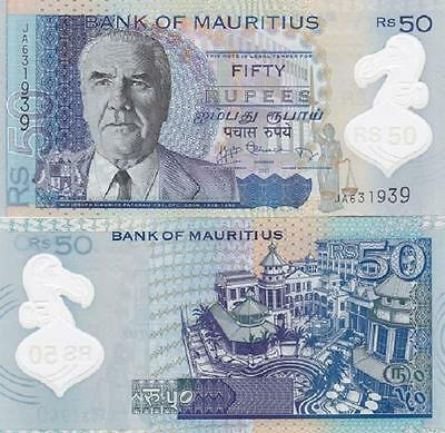 Mauritius - 50 Rupees 2013 UNC Polymer Lemberg-Zp