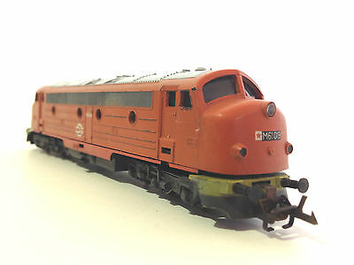 Vintage Berliner Bahnen Diesel Locomotive Tt Gauge Class M61 019 Orange Tested