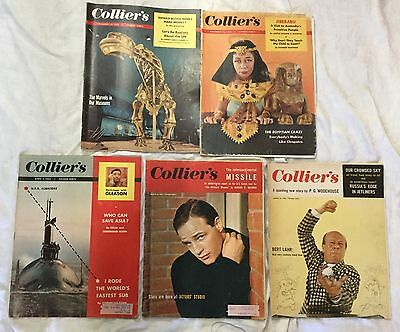 Lot of 5 Collier's Magazines 1954 - 1956