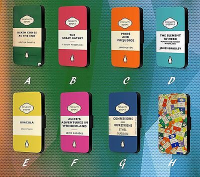 Penguin Books Motivation Quote Cover Page Faux Leather Phone Case Flip Cover