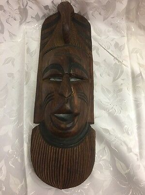 African Wooden Mask Hand Carved