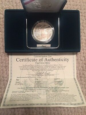1996-S National Community Service Silver Dollar Coin