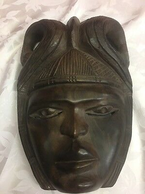 African Carved Wall Mask