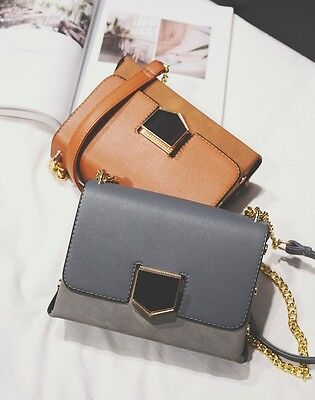 vintage Scrub leather Leather Bag Fashion Chain rivet Shoulder Bags Women Design