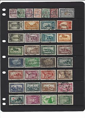 French Morocco . 75 diff , mint and used . 2 scans .