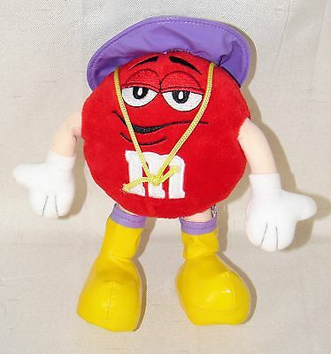M&M's Mars Plush Red Spring Purple Rain Hat Boots Candy Stuffed Galerie Toy