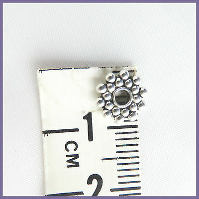 20 Spacer beads Silver Tone Daisy Flower Charms Findings Jewellery Accents 4mm