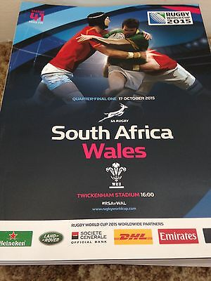RWC 2015 Quarter Final Wales v South Africa Programme
