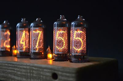 IN-8 Nixie Tube Clock Wooden Enclosure with Sockets for tubes (NixieShopCom)