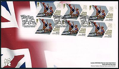 Fdc 2012 Team Gb Rowing Gold Medal First Day Cover London Olympic Games