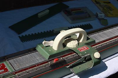 vintage Passap M-201  Knitting Machine with wool winder and accessories + manual